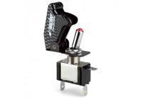 Simoni Racing Baby Go Schakelaar - Carbon-Look + Rode LED - 12V/20Amp