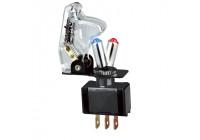 Simoni Racing Baby Go Schakelaar - Transparant + Blauwe/Rode LED - 12V/20Amp