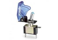 Simoni Racing Baby Go Schakelaar - Blauw Transparant + Blauwe LED - 12V/20Amp