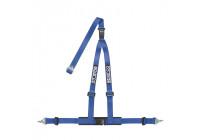 Sparco 3-Punts Sportgordel - Blauw - incl. Bekkenbeschermer & Schroefbevestiging (E-Keur)