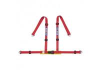 Sparco 4-Punts Sportgordel - Rood - incl. Bekkenbeschermer & Haakbevestiging (E-Keur)