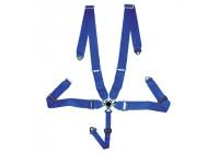 Racing Sportgordel 5-Punts Blauw + Quick Release + E-keur (3-inch)