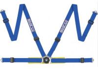 Sparco 4-Punts Sportgordel - Blauw - incl. Bekkenbeschermer/Snelsluiting & Schroefbevestiging (E-Keu