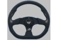 Simoni Racing Sportstuur X2 Poly/Pelle 'Formula' 330mm - Zwart