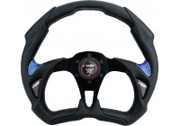 Simoni Racing Sportstuur X5 Poly Pelle 350mm - Zwart/Blauw