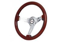Simoni Racing Sportstuur Didier 350mm - Echt Hout - Deep Dish 6cm