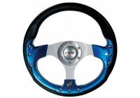 Simoni Racing Sportstuur Estoril 320mm - Zwart Leder / Blauw