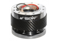 Simoni Racing Quick Release stuurnaaf Carbon/Chroom - Lengte 55mm