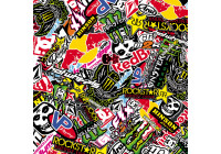 Stickerbomb Folie - Graffiti design 2 - Rol 60x200cm - zelfklevend