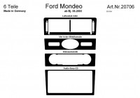 Prewoodec Interieurset Ford Mondeo 6/2003- incl. Climate Control/Sony 6-delig - Aluminium