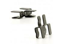 Metalen verbindings clip voor achterruit shades