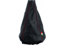 Pookhoes Cuffia Small zwart + rode stiksels