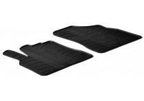 Rubbermatten voor Citroen Berlingo / Peugeot Partner vanaf 2008  (T profiel 2-delig + montageclips)