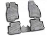 Rubbermatten voor Fiat Grande Punto 5 deurs, vanaf 2005, 4-delig met middenstuk achter