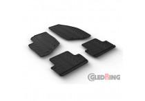 Rubbermatten voor Volvo V70/XC70 2000-2007 & S60 2000-2009 (T profiel 4-delig + montageclips)