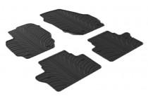 Rubbermatten voor Volvo V70/XC70 2007- (T profiel 4-delig + montageclips)