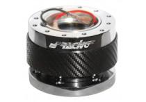 Simoni Racing Quick Release stuurnaaf Carbon/Chroom - Lengte 55mm