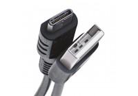 Câble de données Celly USB-C 1 mètre noir