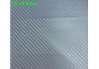 Feuille de carbone 3D 152x200cm argent, autocollante