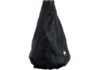 Housse de poker Cuffia Small noire + coutures rouges