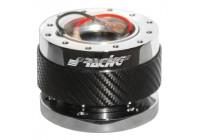 Moyeu de direction Simoni Racing Quick Release Carbone / Chrome - Longueur 55mm
