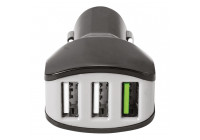 Celly Billaddare 3 USB 4.4A svart
