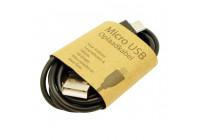 GrabNGo Micro USB laddningskabel svart