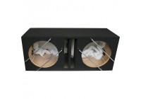 MDF Lock Gate subwoofer box 12 '' / 30 cm Dubbel (34 / 47x88x36) 2x42 liter