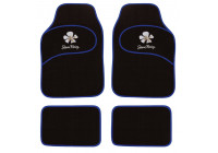 Simoni Racing Universal Car Mats Daisy - Blå blommor - 4 delar