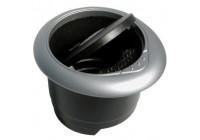 Askkopp svart / grå rund