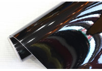 Bil Wrapping Folie 152x200cm Glossy Svart, lim