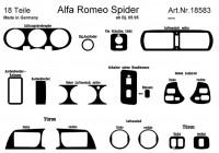 Prewoodec inre utrustning Alfa Romeo Spider / GTV 3 / 1995- 18 stycken - Carbon-Look