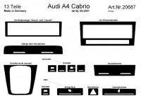 Prewoodec inre utrustning Audi A4 Cabriolet 9 / 2001- Manual 13 st - Aluminium