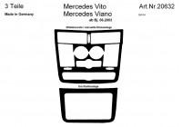 Prewoodec inre utrustning Mercedes Viano / Vito 6 / 2003- 3-piece - grundton