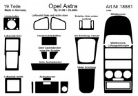 Prewoodec inre utrustning Opel Astra G 3 / 1998-2 / 2004 19 delar - Carbon-Look