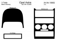 Prewoodec inre utrustning Opel Astra G 3 / 1998-2 / 2004 3-piece - Aluminium