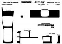 Prewoodec inre utrustning Suzuki Jimny 10 / 1998- 7 stycken - grundton