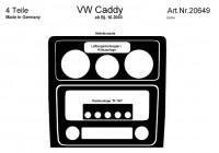 Prewoodec inre utrustning Volkswagen Caddy 10 / 2003- 4 delar - Aluminium