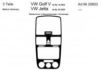 Prewoodec inre utrustning Volkswagen Golf V 10 / 2003- 3-piece - Aluminium