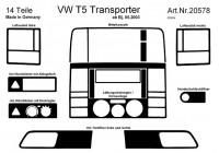 Prewoodec inre utrustning Volkswagen Transporter T5 4 / 2003- 14 st - Aluminium