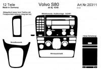 Prewoodec inre utrustning Volvo S80 10 / 1998- 12 delar - grundton