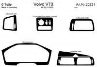 Prewoodec inre utrustning Volvo V70 2000-2007 6 st - grundton