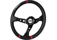 Simoni Racing Sportratt Grus 350mm - Svart Eco-läder (Deep Dish)