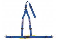 Sparco 3-Point Sports Belt - blå - inkl Bäcken Protector & Skruvmontering (E-Mark).