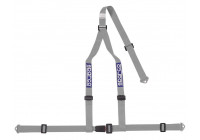 Sparco 3-Point Sports Belt - Silver - inkl Skruvmontering (E-Mark).