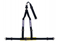 Sparco 3-Point Sports Belt - Svart - inkl Bäcken Protector & Skruvmontering (E-Mark).