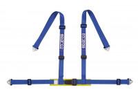 Sparco 4-Point Sports Belt - blå - inkl bäckenskydd & Hook Attachment (E-Mark).