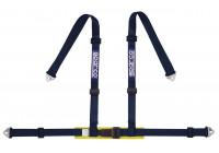 Sparco 4-Point Sports Belt - Svart - inkl Bäcken Protector & Hook Attachment (E-Mark).