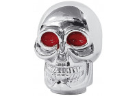 Simoni Racing växelspaksknopp skalle - Chrome + röda ögon