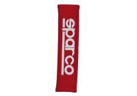 Sparco Set remkåpor - Broderade logo - rött